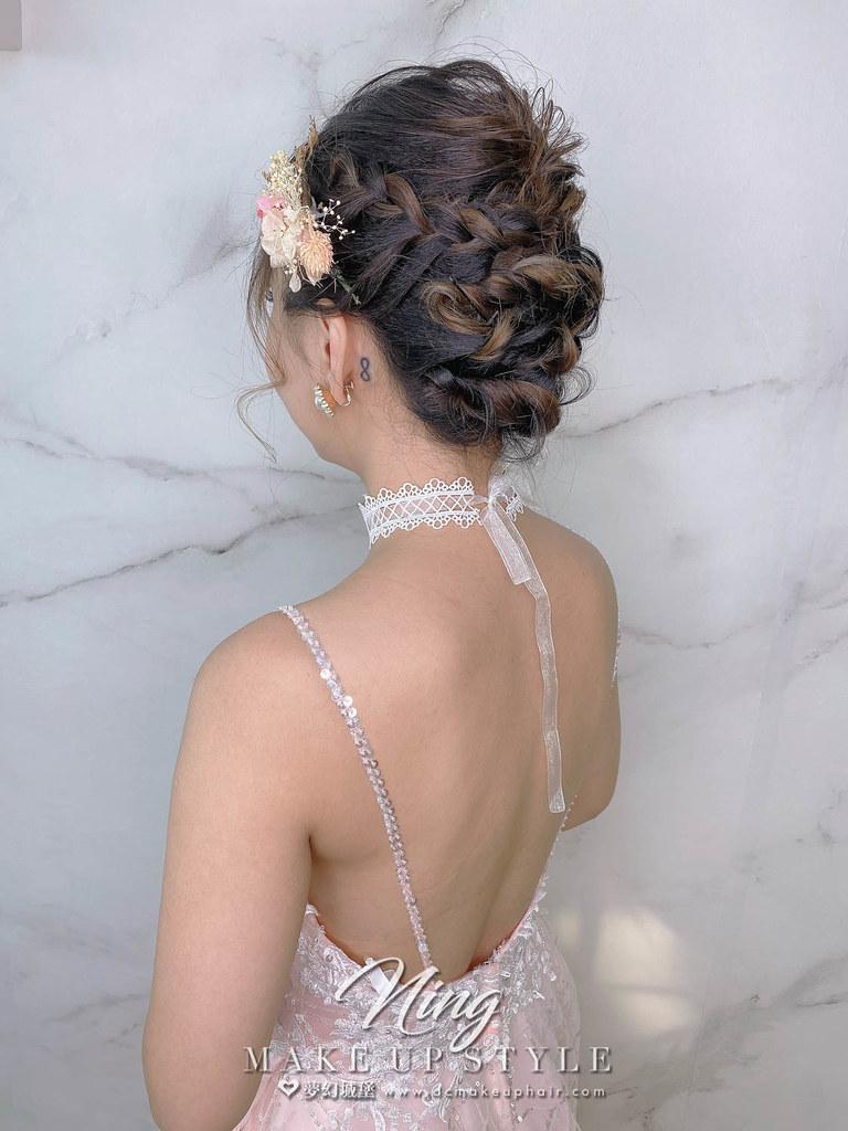 【新秘羽寧】新娘造型創作 / 短髮-編織盤髮