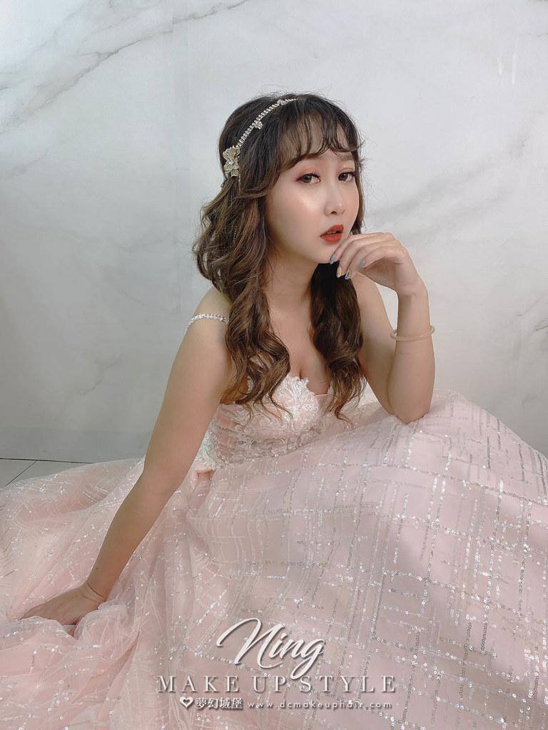 【新秘羽寧】新娘造型創作 / 短髮-接長公主頭