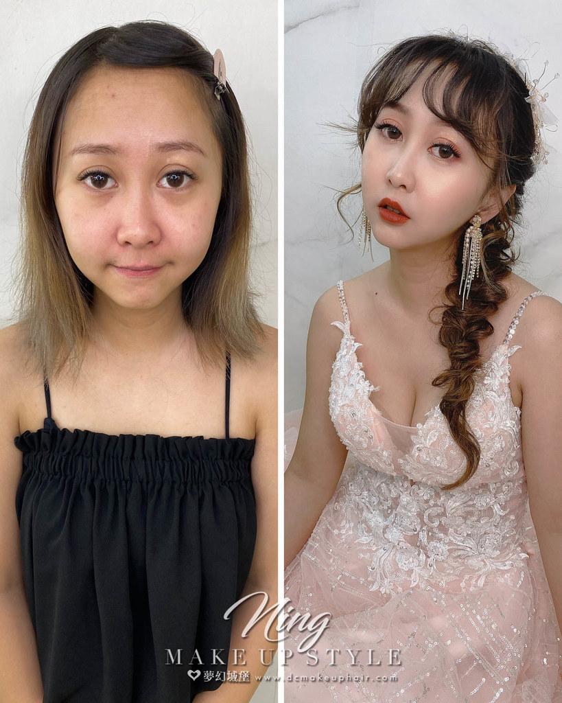 【新秘羽寧】新娘造型創作 / 短髮-側編髮
