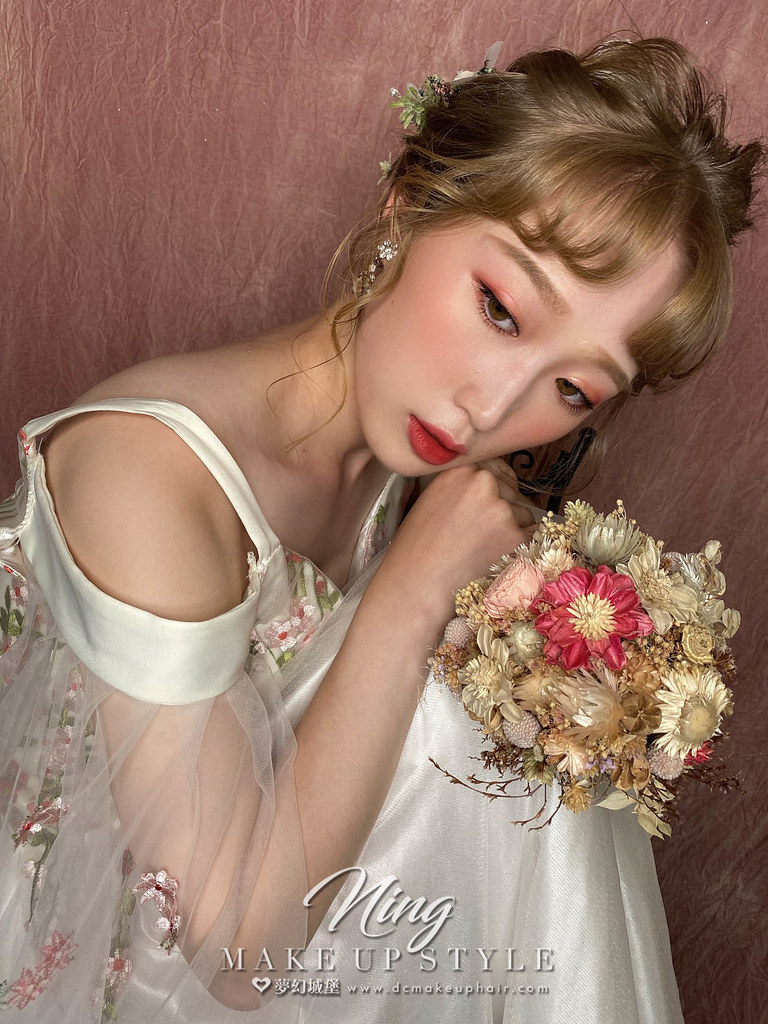 【新秘羽寧】新娘造型創作 / 甜美乾燥花造型