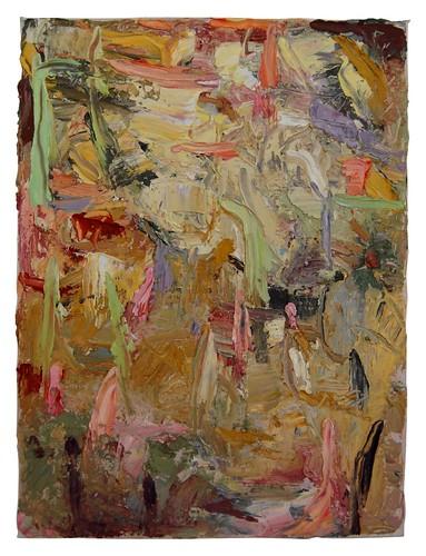 JOHN CULLEN 'Zhu's Garden' Oil on canvas, 40x40cm