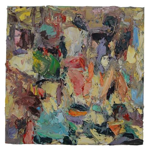 JOHN CULLEN  'May' Oil on canvas, 40x40cm
