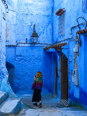 Blue Morocco, Blue City, Chefchaouene, Morocco,摩洛哥