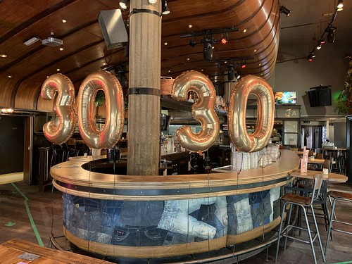 Folieballon Cijfer 30 Cafe Beurs Rotterdam