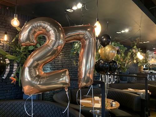 Folieballon Cijfer 27 Oysterclub Rotterdam