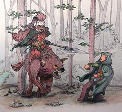 Forest Encounter - Illustration