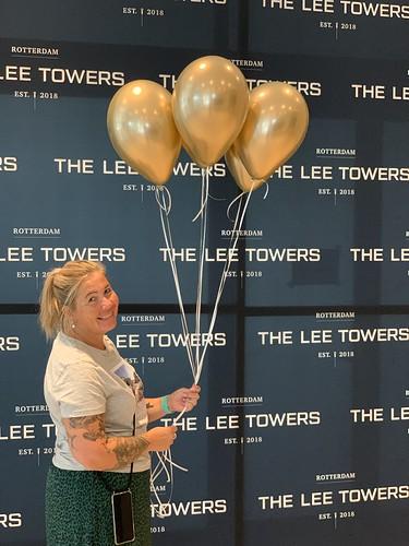 Heliumballonnen Lee Towers Marconiplein Rotterdam