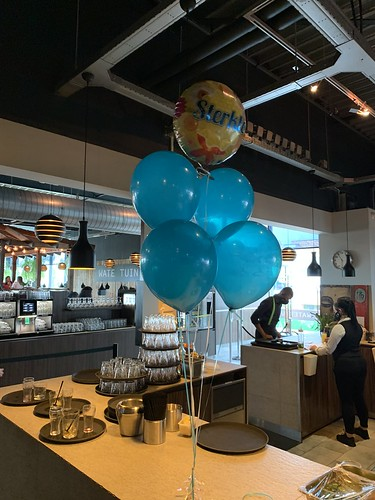 Tafeldecoratie 6ballonnen Sterkte Watertuin Spijkenisse