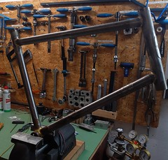 The #minivelo has left the jig #ccycles #steelisreal