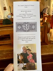 Photo of Vicky Chapman's Funeral