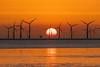 Crosby beach sunset