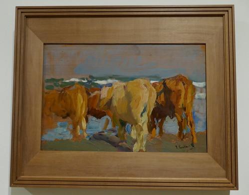"""""""Tres bueyes, playa de Valencias"""", 1903, Joaquín Sorolla y Bastida (1863-1923), Musée des Beaux-Arts, Bilbao, Biscaye, Pays basque, Espagne."""