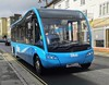Vectis Blue is heading down Newport High Street while Not in Service. - HW62 CJJ - 27th February 2020