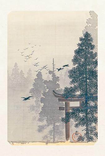 56-Carte postale // 10x15cm // Torii and Birds
