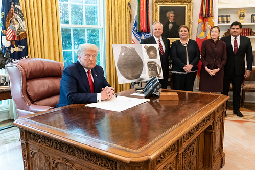 President Trump in the Oval Office by The White House, on Flickr