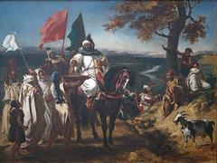 """""""Le Kaïd, chef marocain"""" d'E. Delacroix (Musée d'arts de Nantes)"""