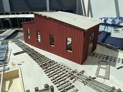 Photo of Bonanza roundhouse construction
