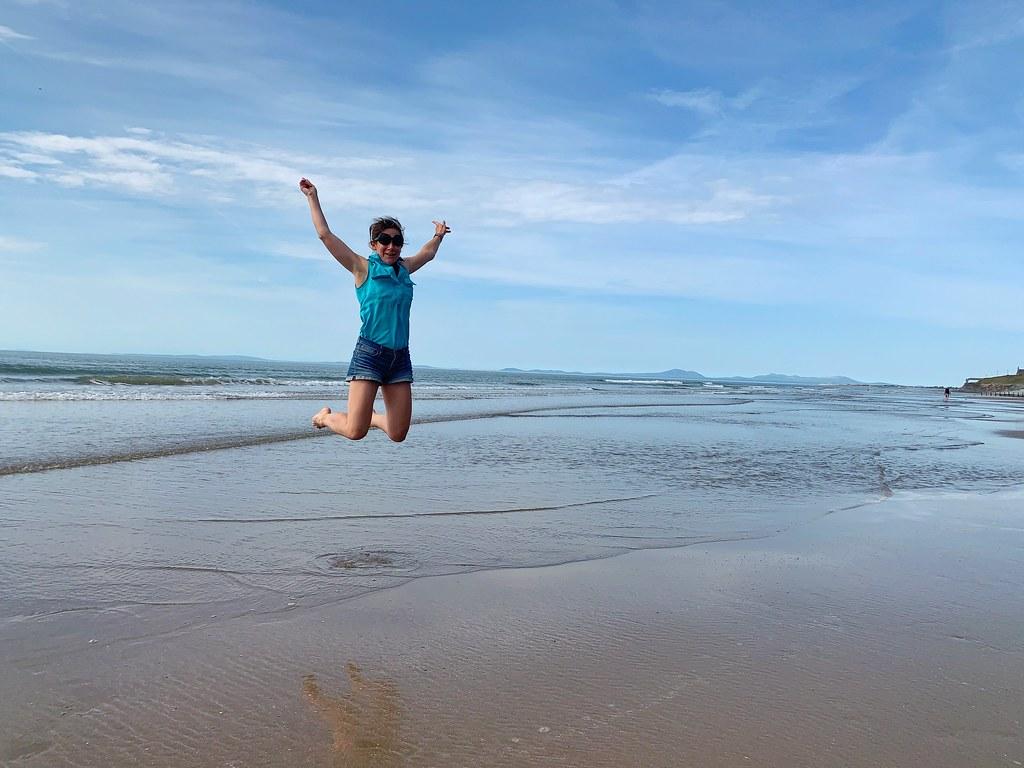 Barmouth Beach leap