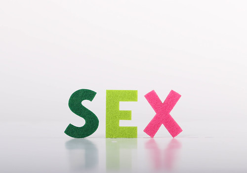 Sex text on white background