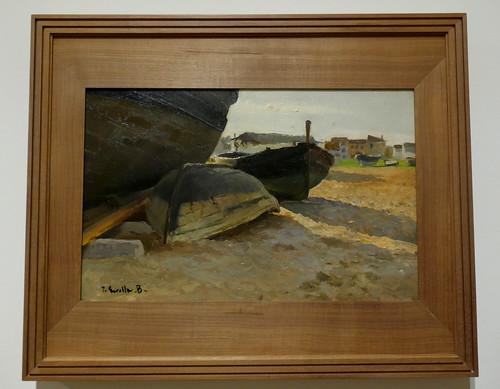 """""""Barcas de Valencia"""", 1904, Joaquín Sorolla y Bastida (1863-1923), Musée des Beaux-Arts, Bilbao, Biscaye, Pays basque, Espagne."""