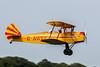 SNCAN Stampe SV.4C G-AWEF taking off from Lashenden / Headcorn aerodrome, UK