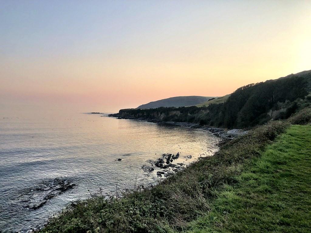 View from Marine Drive, Hannafore, Looe, across Wallace Beach.