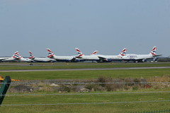 Photo of BA jets parked.