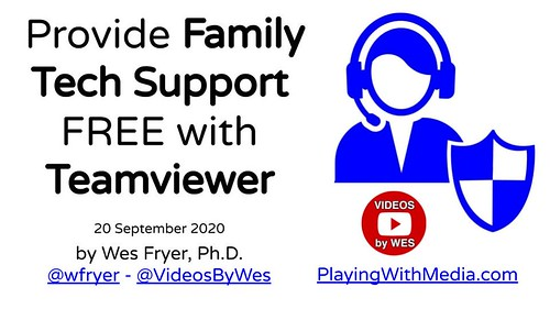 Provide Family Tech Support FREE with Teamviewer by Wesley Fryer, on Flickr