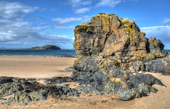 Photo of Rocks on the beach, North Berwick, Scotland