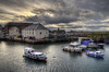 The harbours at Dunbar, Scotland