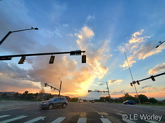 September 20, 2020 - Sunset on the street. (LE Worley)