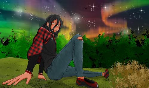 redahemcha starry background