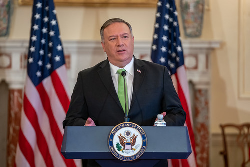 Secretary Pompeo Deliver Remarks to the Media on Iran Snapback Sanctions, From FlickrPhotos