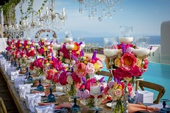 A luxury floral villa wedding in Mykonos