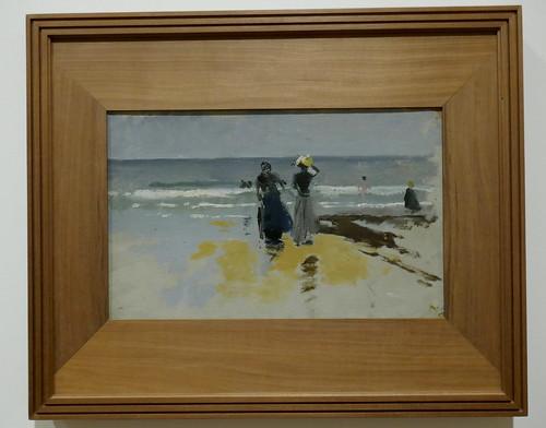 """""""Playa de San Sebastián"""", 1900-1901, Joaquín Sorolla y Bastida (1863-1923), Musée des Beaux-Arts, Bilbao, Biscaye, Pays basque, Espagne."""