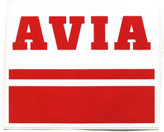 Photo of Avia petrol sticker, 1980s (or potentially late 1970s)
