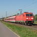 Kaarst DBC 185 275 met UC en X wagens van S-Bahn