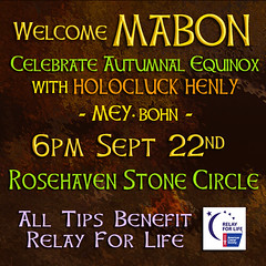Welcome Mabon! 6pm SLT Tonight