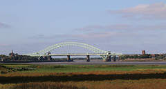 Photo of 20th September 2020. Two Churches. The Silver Jubilee Bridge from Wigg Island,  Runcorn, Cheshire.