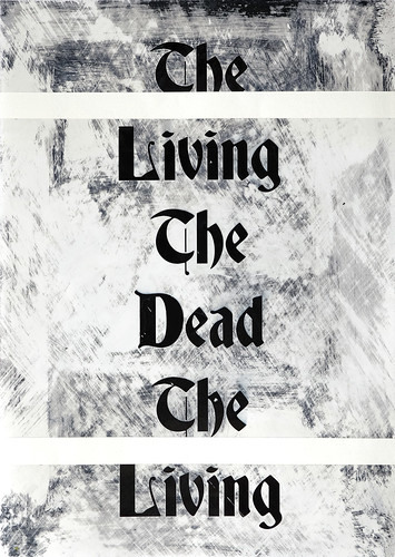 Zavier Ellis 'The Living & The Dead (Repeat) II', 2020 Acrylic on digital gloss print 42x29.7cm