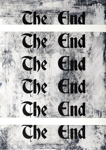Zavier Ellis 'The End (Repeat) I', 2020 Acrylic on digital gloss print 42x29.7cm