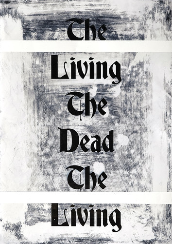 Zavier Ellis 'The Living & The Dead (Repeat) I', 2020 Acrylic on digital gloss print 42x29.7cm