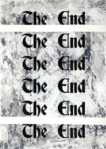 Zavier Ellis 'The End (Repeat) II', 2020 Acrylic on digital gloss print 42x29.7cm