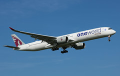 Photo of A7-ANE Airbus A350-1041 Qatar Airways - One World Livery