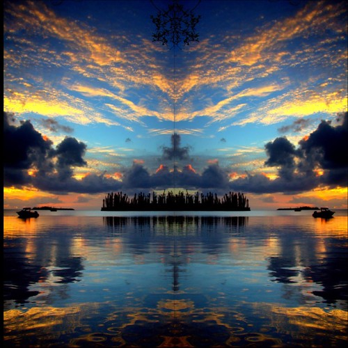 Merging into a New Real-ity 2 - Sunset - mirror effect 12 - PicsArt 2020, From FlickrPhotos