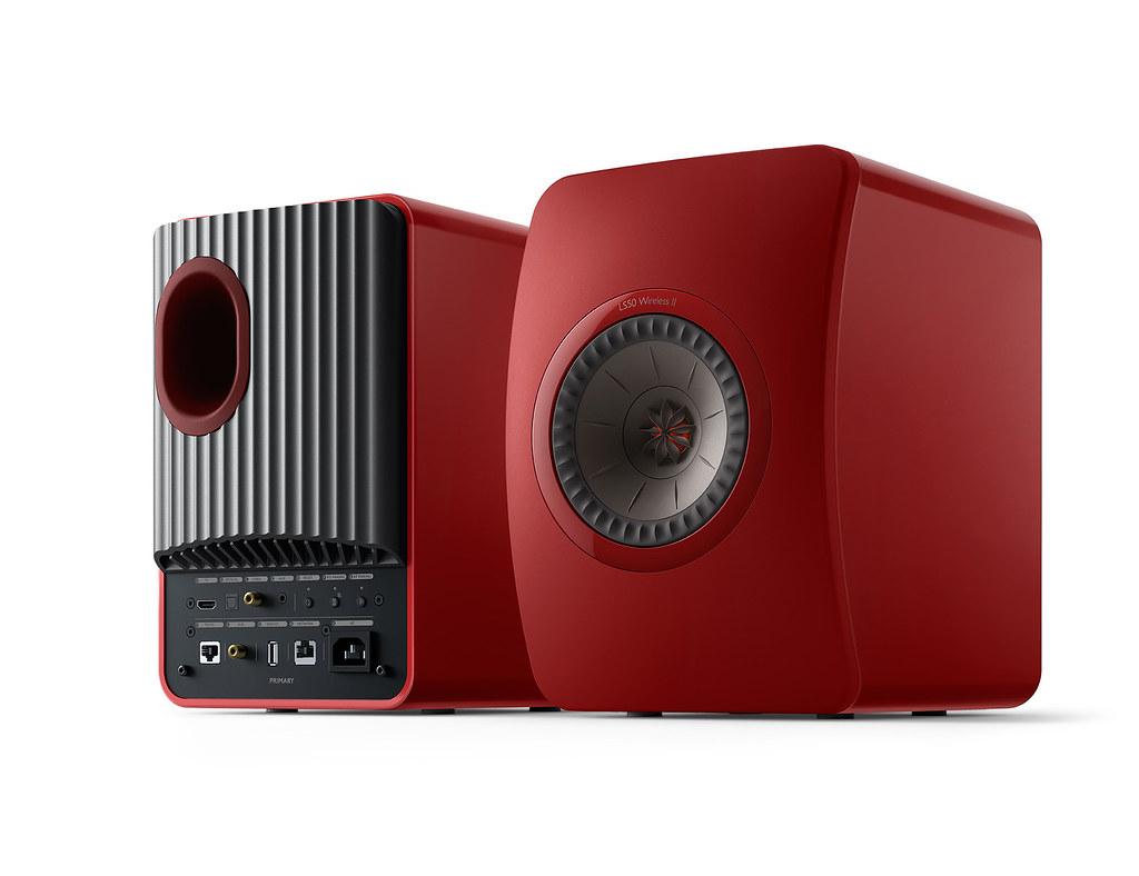 LS50 Wireless II無線HiFi揚聲器使用MAT革命性技術,打造自然純淨音質,並推出緋紅特別版配色
