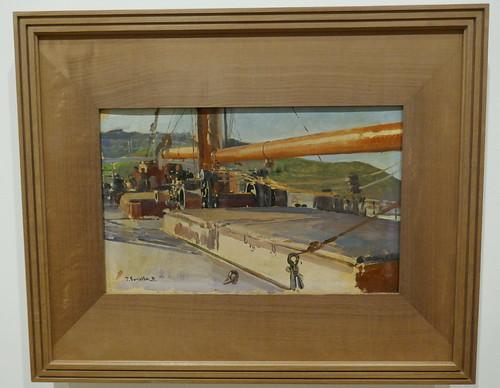 """""""Cubierta de un falucho"""", vers 1900, Joaquín Sorolla y Bastida (1863-1923), Musée des Beaux-Arts, Bilbao, Biscaye, Pays basque, Espagne."""