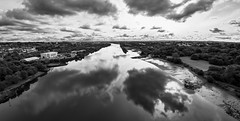 Photo of River Clyde, Erskine, Renfrewshire, Scotland, UK B&W