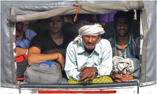 Sur la route de Delhi, Uttar Pradesh, Inde-PA130104