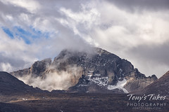 September 27, 2020 - Longs Peak in the clouds. (Tony's Takes)
